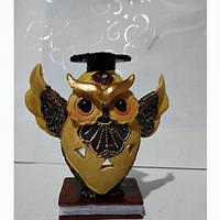 Денежная сова фэн - шуй, символ мудрости и благополучия, высота 12 см.