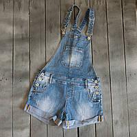 8233 Vanver комбінезон-шорти жіночий джинсовий синій весняний стрейчевий (25-30, 6 од.), фото 1