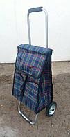 Господарська сумка на ЗАЛІЗНИХ колесах зі складним МЕТАЛЕВИМ каркасом, фото 1