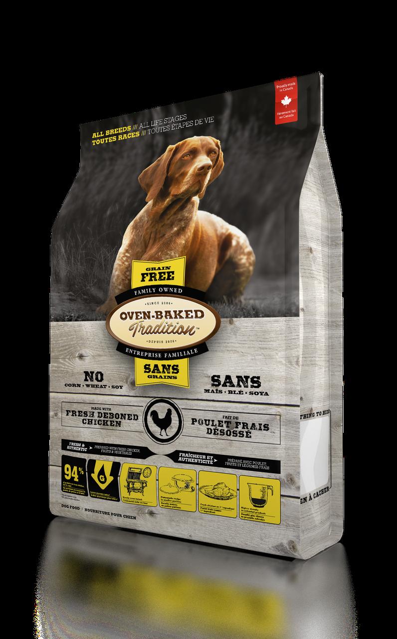 Oven-Baked Tradition беззерновой сухой корм для собак со свежего мяса курицы 11.34 кг.