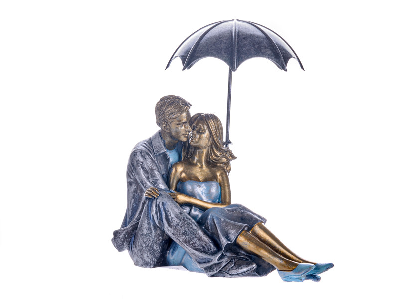 "Фигурка декоративная ""Пара под зонтиком"" 18х10х18 см"