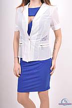 Пиджак женский (сетка с гипюром) цв.белый 1016 Размер:44,46