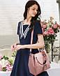 Набор женских сумок 3в1 с косточками розовый из качественной экокожи, фото 5