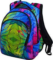 Рюкзак подростковый для девочки школьный с ярким абстрактным принтом Winner Stile 246D