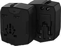 Мультитревел адаптер Nomi UC01 со встроенным аккумулятором черный