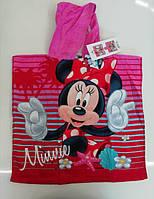 Пончо детское для девочек Disney оптом, 55*110 см. Артикул: MIN-H-PONCHO-87