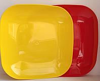 Тарелка мелкая пластиковая квадратная 18,5*18,5см