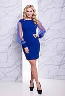"""Женское нарядное платье синее """"XS"""" (19675.2.1)"""