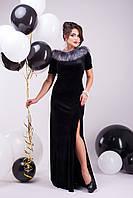 """Женское нарядное платье черное """"S"""" (19739.1.1)"""