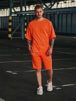 Футболка оверсайз + шорты. Стильный мужской комплект. Футболка реглан., фото 1
