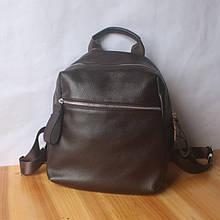 Рюкзак с вместительным карманом спереди / натуральная кожа (кт-2832) Коричневый