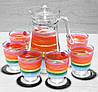 Набор для напитков Luminarc Color Pencil кувшин + 6 стаканов