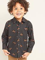 Поплиновая детская рубашка с тиграми Олд Неви для мальчика