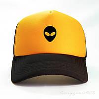 Бейсболка желтого цвета с черным козырьком ALIEN