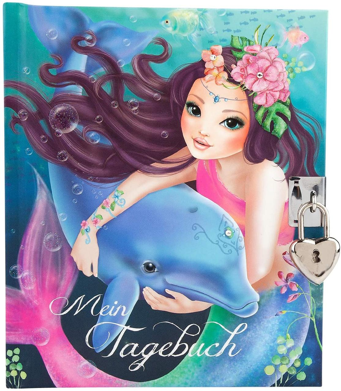 Щоденник на замочку  для дівчаток TOP Model Русалка і Делна (Дневник ежедневник ТОП Модел русалочка)