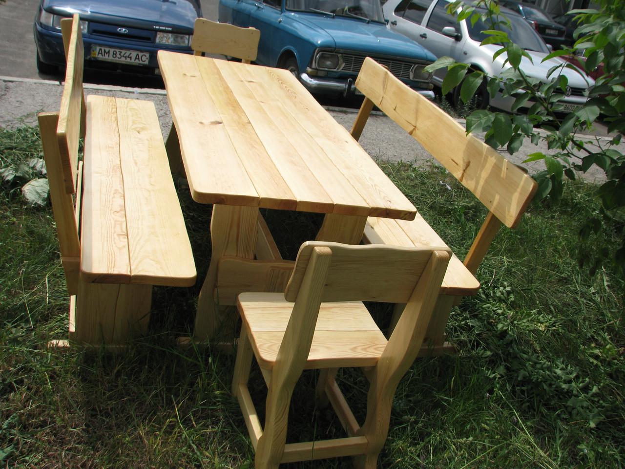 Деревянная мебель для беседок и мангалов в Никополе от производителя