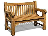 Лавочка скамья со спинкой 1200 х 690 мм от производителя Garden park bench 04