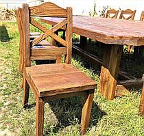 Деревянные состаренные стулья, барные стулья  450х370 от производителя для дачи, кафе  Wooden chair - 04