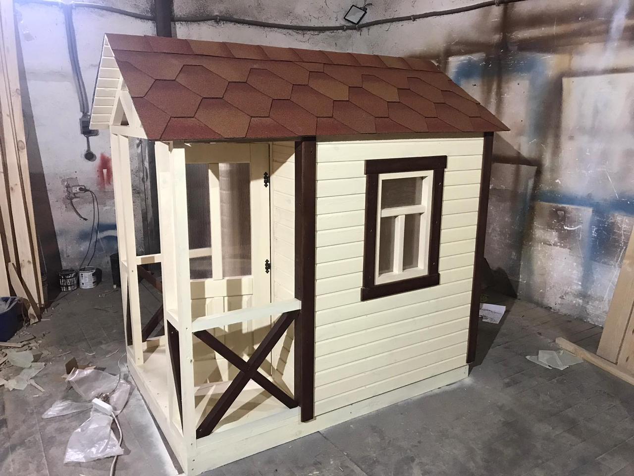 Домик для детей с верандой игровой разборный для дачи от производителя