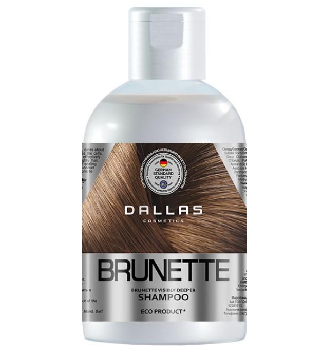Увлажняющий шампунь для защиты цвета темных волос Dallas Brilliant Brunette 1 л
