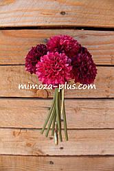 Искусственные цветы - Хризантема пучок, 19 см
