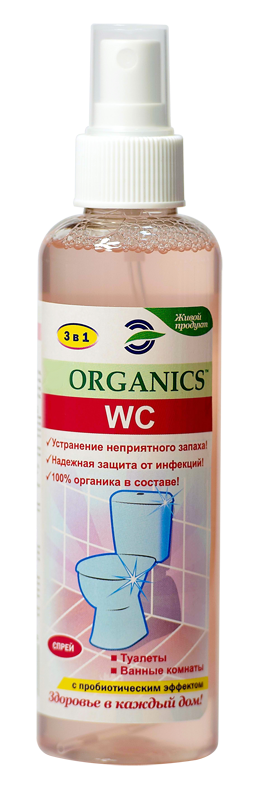 Средство для устранения запаха в туалете Organics WC 200мл