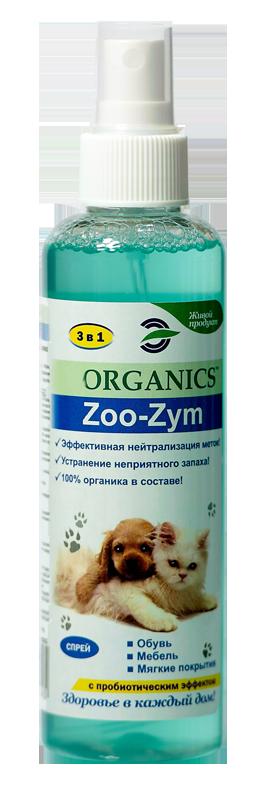 Средство для устранения запаха меток мочи домашних животных Organics Zoo-Zym 200мл