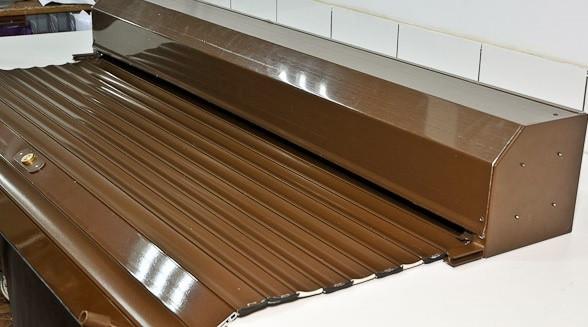 Защитные коричневые роллеты с электроприводом Ш:1700мм хВ:2300  ДОСТАВКА ПО УКРАИНЕ БЕСПЛАТНО!