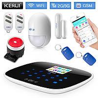 Беспроводная сигнализация KERUI W193 2G / 3G WiFi PSTN