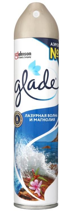Освежитель воздуха GLADE лазурная волна и магнолия 300мл