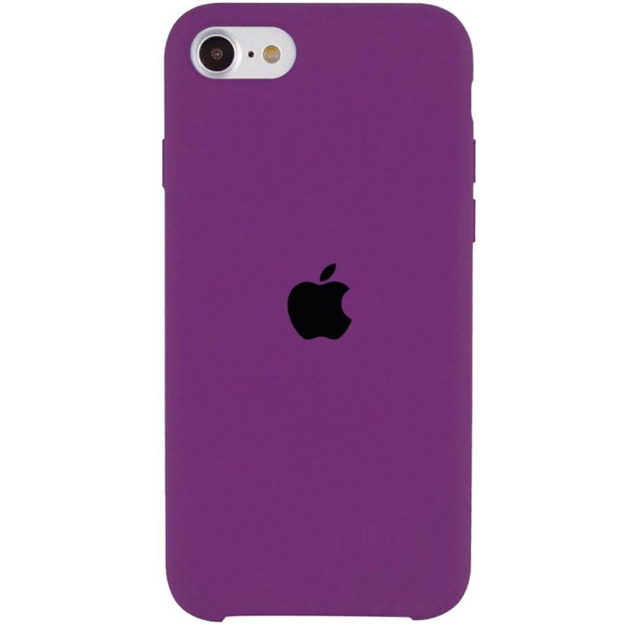 Силиконовый чехол для Apple iPhone SE 2020 Silicone case (Фиолетовый)