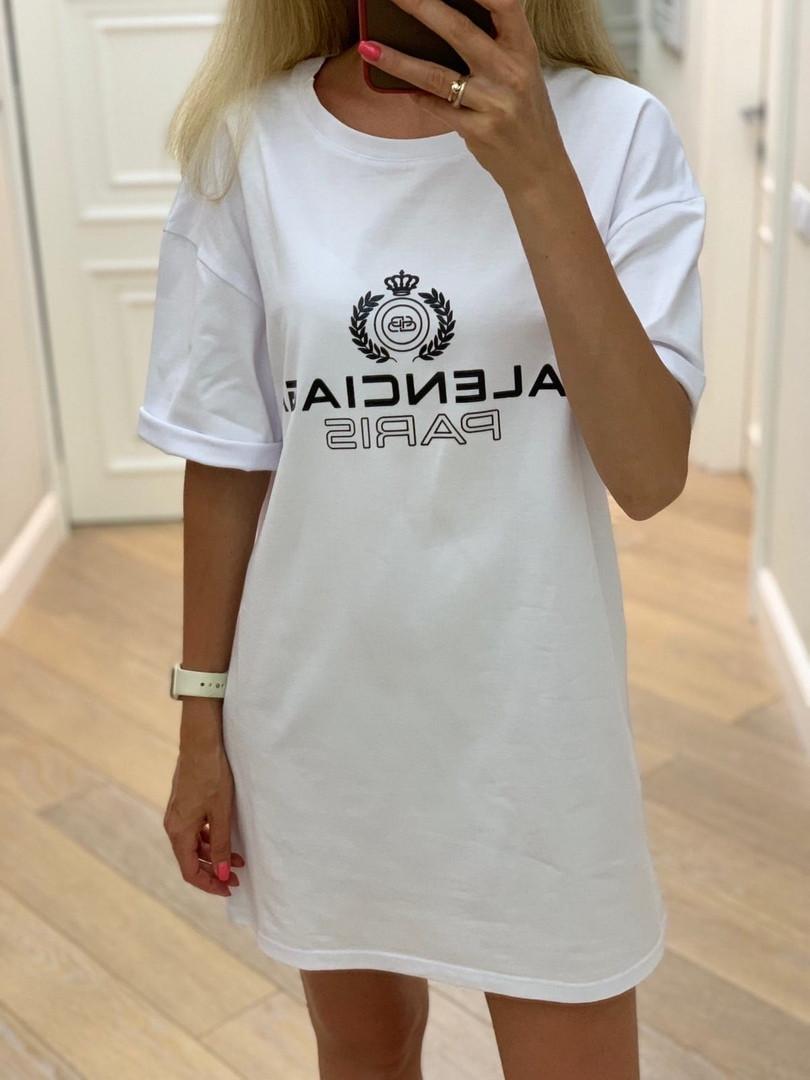 Короткое спортивное платье в стиле BALENCIAGA