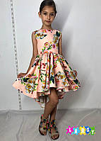 """Нарядное платье для девочки ,""""Сердце""""."""