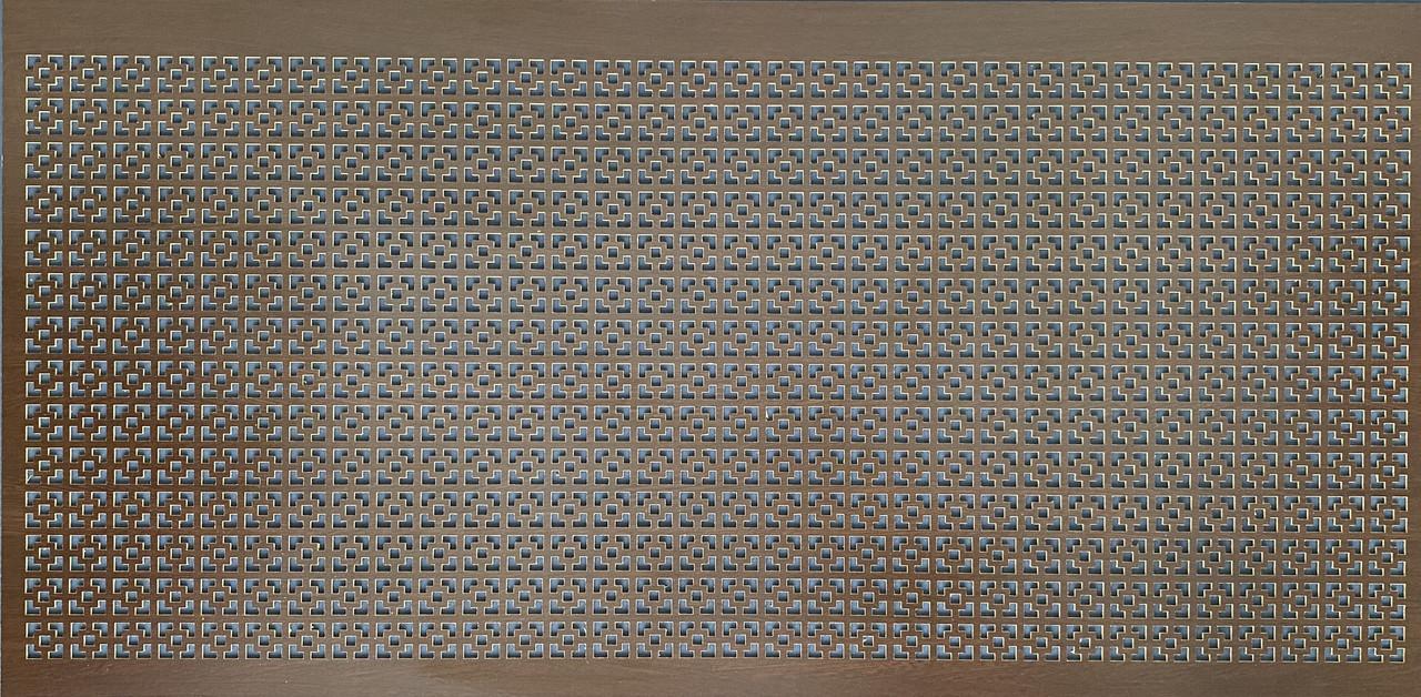 Панель (решетка) декоративная перфорированная, 1390 мм х 680 мм Эфес, Венге
