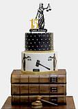 Топпер на торт Феміда з індивідуальною цифрою | Топпер для юриста | Топпер для правознавця, фото 4