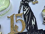 Топпер на торт Феміда з індивідуальною цифрою | Топпер для юриста | Топпер для правознавця, фото 6