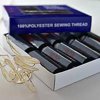 Нитки для шитья / цвет черны / 100% полиэстер / упаковка 10 бобин