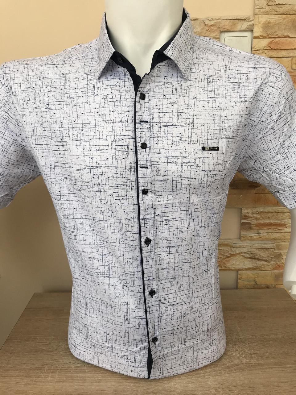 Рубашка  батальная короткий рукав P.Jack с принтом