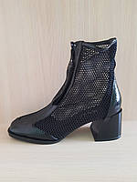 Летние ботинки в сеточку черные. Турция