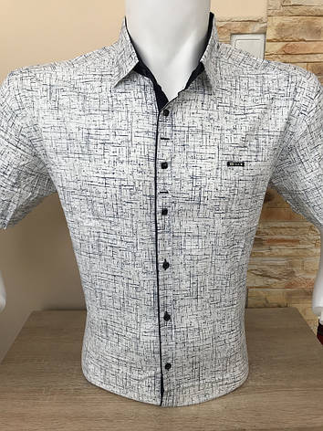 Рубашка  батальная короткий рукав P.Jack с принтом, фото 2