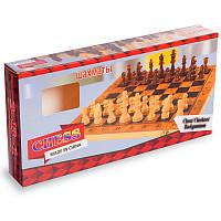 Брак! Шахматы 3 в 1 без шашек деревянные, фигуры-дерево, р-р 29x29см. (S3029-брак3)