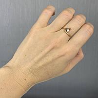Золотое кольцо Б/У с фианитами 583 пробы, вес 1.83 г, фото 2