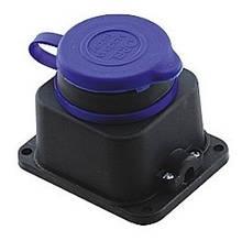 Розетка каучуковая с заземлением и защитной крышкой OREL IP44 (Турция) TechnoSystems TNSy5502507