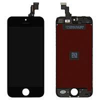 Дисплей для iPhone 5C, модуль в сборе (экран и сенсор), с рамкой, черный, оригинал 100%