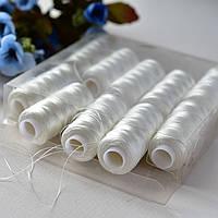 Нитки капроновые / цвет белый / упаковка 10 бобин ( 200 м в бобине)