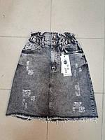 """Женская джинсовая юбка (26-31)  """"Partylite"""" 2RS-1763"""
