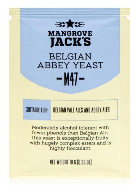 Дрожжи Mangrove Jack's M47 Belgian Abbey, 10 гр