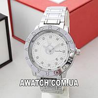 Женские кварцевые наручные часы Pandora A208 / Пандора на металлическом браслете серебристого цвета
