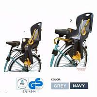 Детское Велокресло TILLY Maxi от 1 до 7 лет (до 22 кг) Крепление на раму или багажник Черный