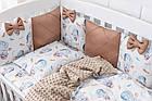 """Детская постель Asik из сатина """"Зайка на воздушном шаре"""" с бортиками на 4 стороны, № 385, фото 4"""